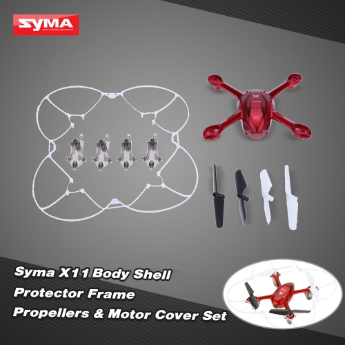 Original Syma X11C RC Body Shell X11-01C Protector Frame X11-02 Propellers X11-03 and Motor Cover X11-04 for X11 X11C RC Quadcopter