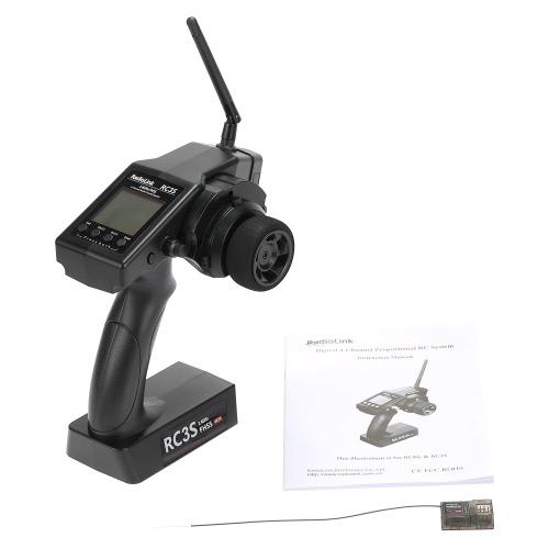 2.4 G 4CH Radio Control System Sender Empfänger RC3S programmierbar für RC Car Boot schwarz