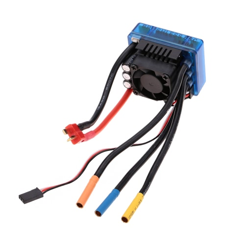 120A Brushless ESC Electric Speed Controller with 6.1V/3A SBEC for 1/8 RC Car Truck