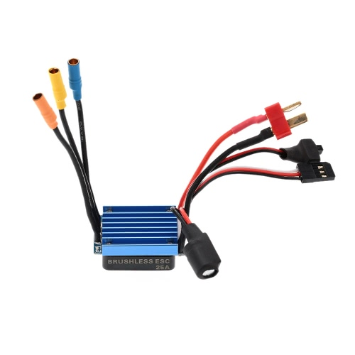 25A Brushless ESC Electric Speed Controller with 5V/1A BEC for 1/12 1/16 1/18 RC Car