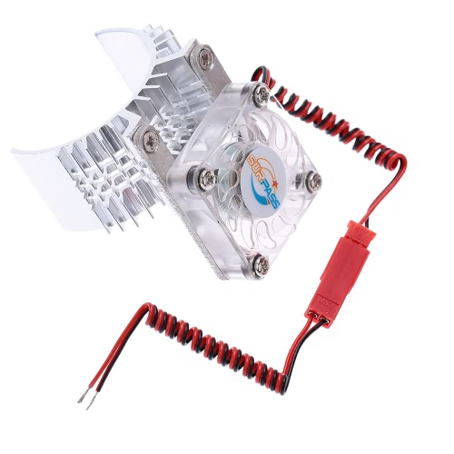 Motor Heat Sink With Cooling Fan for 1/10 RC Racing Car