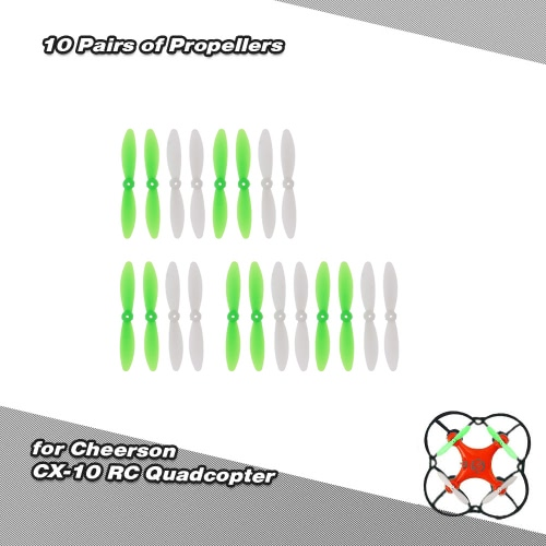 RC Part 10 Pairs of Propellers for Cheerson CX-10 Quadcopter