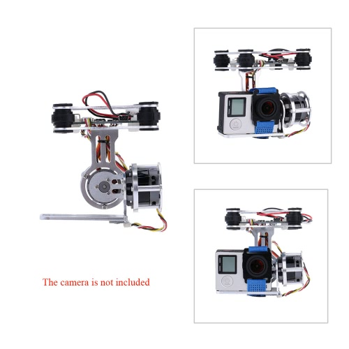 GoolRC 2D Light Weight Silver Brushless Motor Gimbal for DJI Phantom 1 2 3+ Aerial Photography
