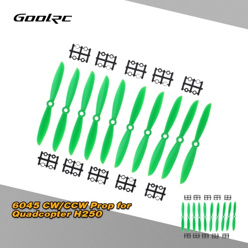 GoolRC 5 Pairs Green ABS 6045 6*4.5'' CW/CCW Propeller Prop for Quadcopter H250/280/300MM