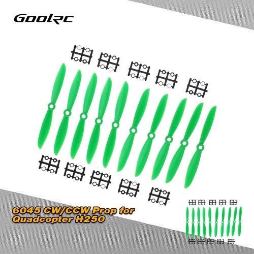 GoolRC 5 par Zielony ABS 6045 6 * 4.5 '' CW / CCW Propeller Quad do Quadcopter H250 / 280 / 300MM