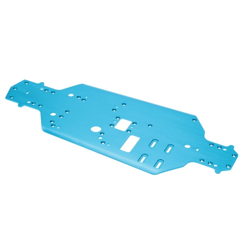 02163 Upgrde Parts Alumimum Alloly Chasis for 1/10 HSP 94122 4WD On-road Touring Racing Car