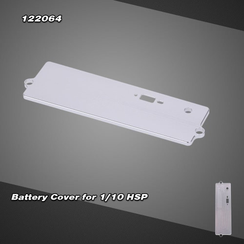 122064 Upgrade Parts Aluminum Alloy Battery Case Battery Shell Battery Cover for 1/10 HSP 4WD RC Car