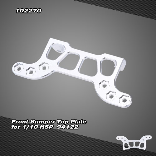 102270(122270) Upgrade Part Aluminum Front Bumper Top Plate for RC HSP 1/10 Nitro Power Advanced On-road Drift Car 94122 HIMOTO Redcat