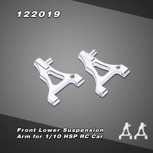 122019 Upgrade Parts Aluminum Alloy Front Lower Suspension Arm for 1/10 HSP Drifting On-Road 4WD Nitro Power Car