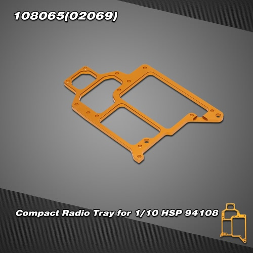 108065(02069) Upgrade Parts Aluminum Compact Radio Tray for 1/10 HSP 94108 Off-road Monster Truck