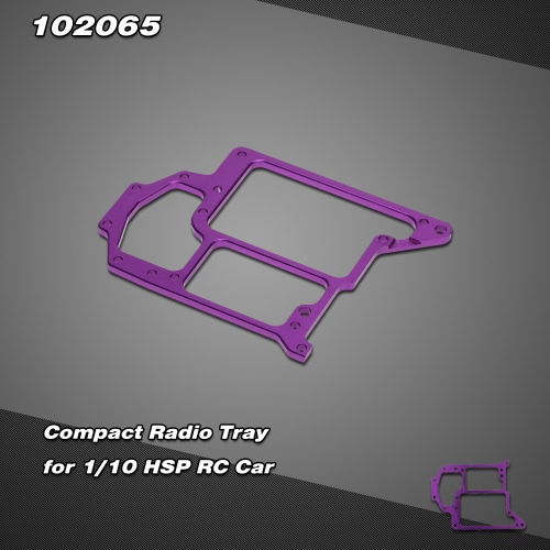 102065 Upgrade Part Aluminum Compact Radio Tray for 1/10 HSP Redcat Himoto RC Car
