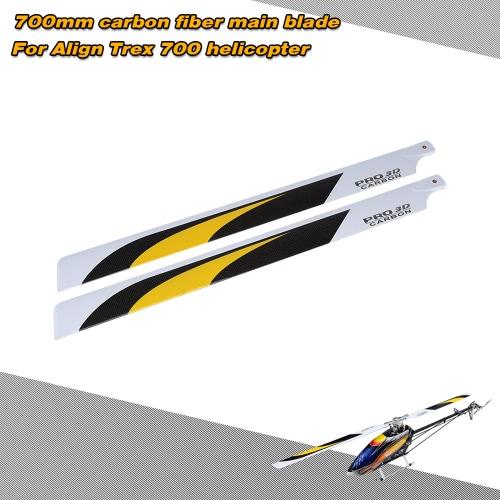 Carbon Fiber 700mm Hauptblätter für Align Trex 700 RC Hubschrauber