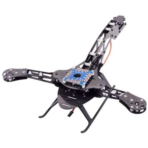 HJ-Y3 Tricopter/Three-axis Multicopter fibra de carbono