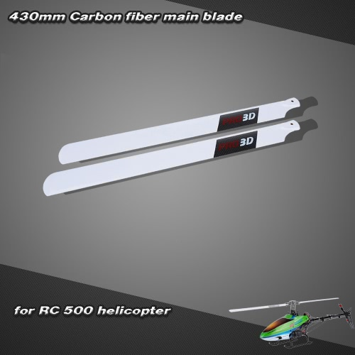 Carbon Fiber 430mm Main Blades for  RC 500 Helicopter