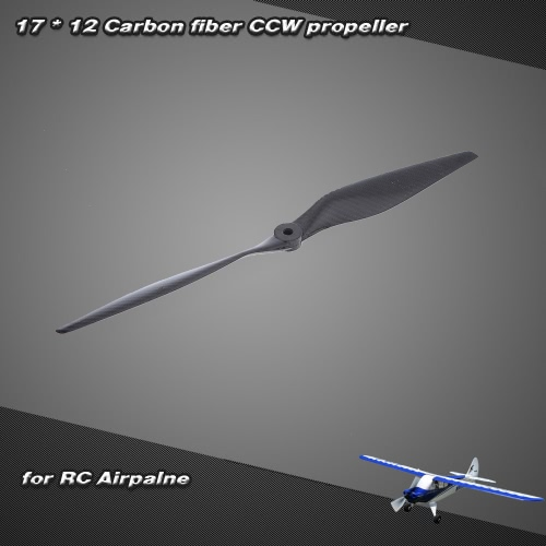 17 * 12 Carbon Fiber CCW Propeller for  RC Airplane