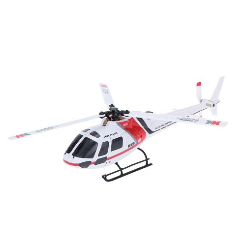 XK AS350 K123-B 6CH 3D 6G Sistema senza spazzola motore BNF RC elicottero