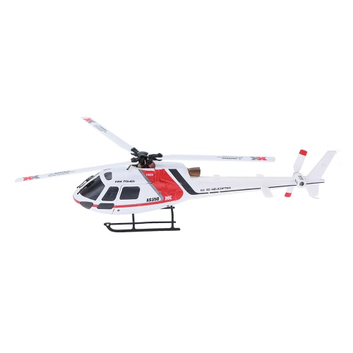 XK AS350 K123-B 6CH 3D 6G System Brushless Motor BNF RC Helicopter