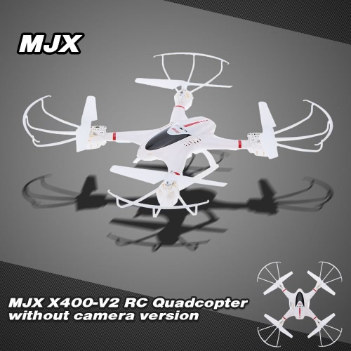 MJX X400-V2 2.4G 6-Axis Gyro RC Quadcopter without Camera with Headless mode/One-key landing/Throttle limit mode/3D flip and roll