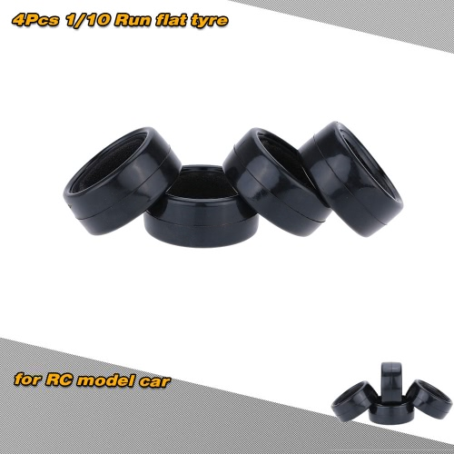 4Pcs/Set 1/10 Run-flat Car Rubber Tyre for Traxxas HSP Tamiya HPI Kyosho On-Road Run-flating Car