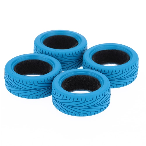 4Pcs / Set 1/10 Grain Run-flat Car Rubber Tire para Traxxas HSP Tamiya HPI Kyosho On-Road Run-flating Car