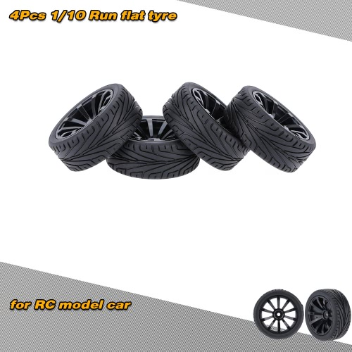 4Pcs / Set 1/10 Run Pneumatici rigidi pneumatici per auto per RC Traxxas HSP Tamiya HPI Kyosho su strada