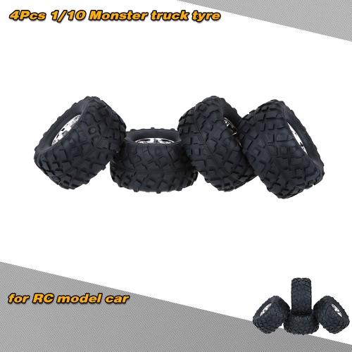 4pcs/Set 1/10 Monster Truck Tire pneumatici per Traxxas HSP Tamiya HPI Kyosho RC modello auto
