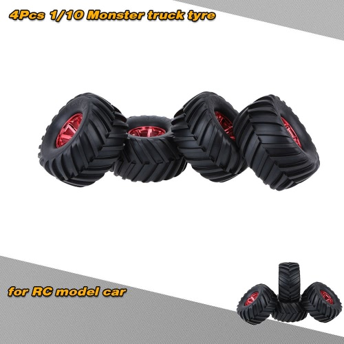 4Pcs/Set 1/10 Monster Truck Tire Tyres for Traxxas HSP Tamiya HPI Kyosho RC Model Car