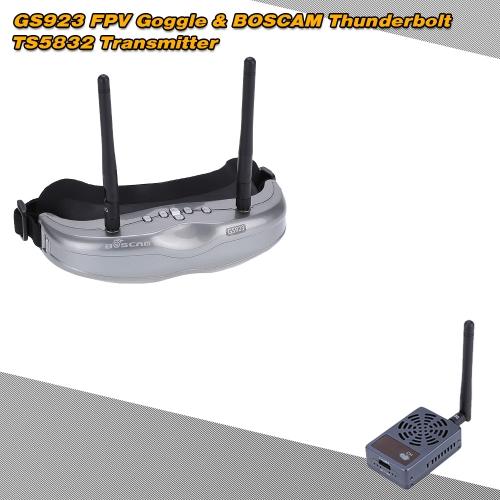 Goggle BOSCAM Thunderbolt TS5832 5,8 G 2000mW 32CH Wireless trasmettitore + GS923 5,8 G 32CH FPV RC Set