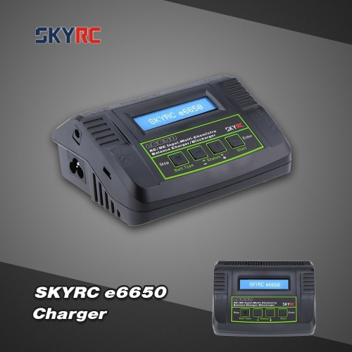 Original SKYRC e6650 50W LiPo LiFe LiIon NiMH NiCd Battery Charger Discharger For RC Quadcopter Battery