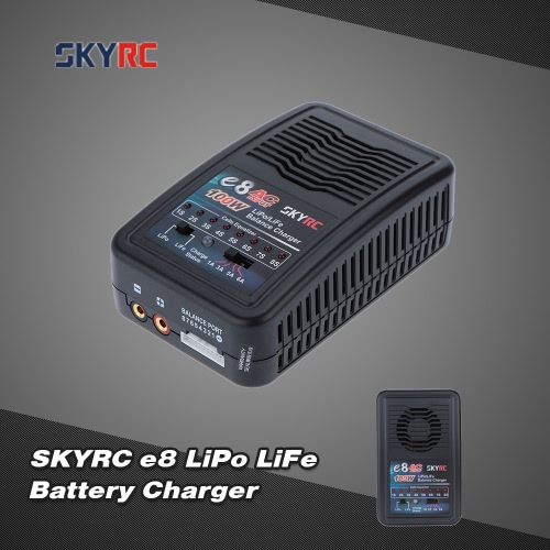 Original SKYRC e8 100W 2-8s LiPo LiFe Battery Balance Charger for RC Quadcopter Helicopter Battery