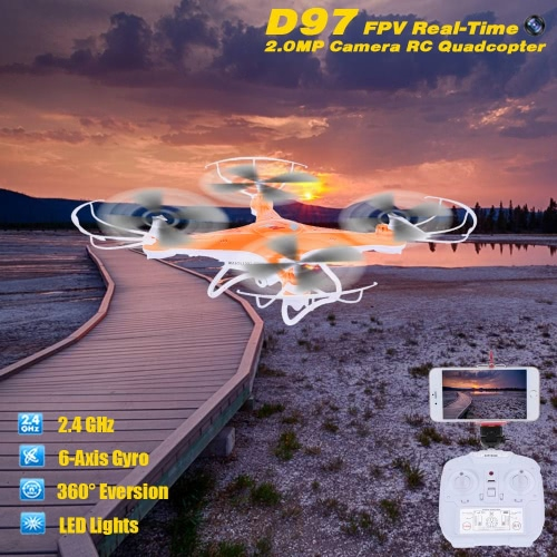 D97 FPV 2.4G 6 Channel 6-Axis Gyro Wifi Real-time Transmission RC Quadcopter with 2.0MP HD Camera