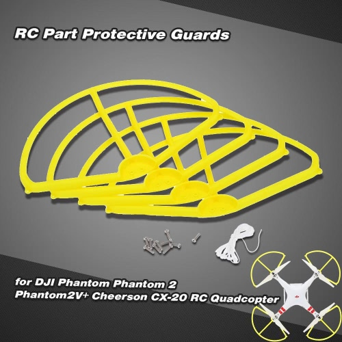 4Psc Protective Guards and 2 Pairs of Propellers and 10 Screws and Protective String RC Part for DJI Phantom Phantom 2 Phantom2V+ Cheerson CX-20 RC Quadcopter