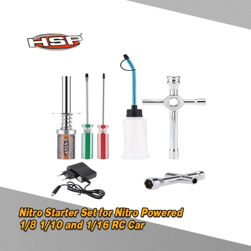 Original HSP 80141 Nitro Starter Kit Glow Plug Igniter Charger Tools Fuel Bottle for HSP RedCat Nitro Powered 1/8 1/10 RC Car