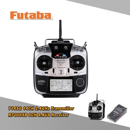 Original Futaba T14SG 2.4GHz 14CH Digital Proportional Mode 2 Transmitter with R7008SB 8CH S.BUS Receiver 110V