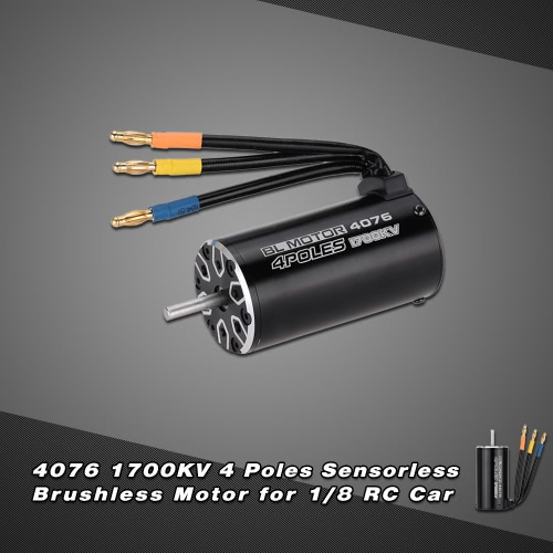 4076 1700KV 4P Sensorless Brushless Motor for 1/8 RC Monster Truck