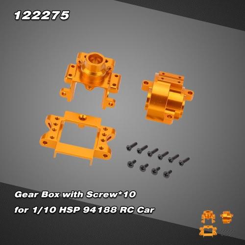 122275 Upgrade Part Aluminium Alloy Gear Box for 1/10 HSP 94122 94188 Nitro Powered Off-road Car