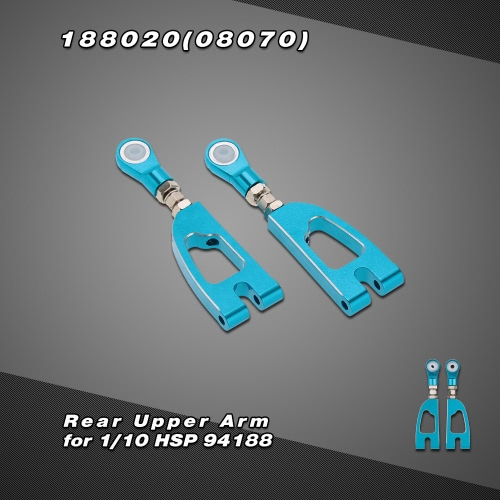 188020(08070) Upgrade Part Aluminum Alloy Rear Upper Arm for 1/10 HSP 4WD 94188 Off Road Monster Truck