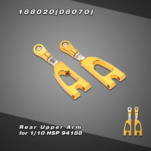 188020(08070) Tuningteil Aluminium Alloy Rear Oberarm für HSP 1/10 4WD 94188 Off Road Monstertruck