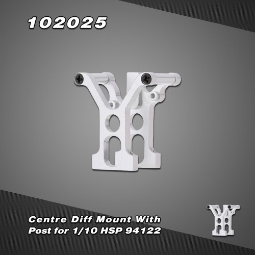 102025 Upgrade Part Aluminum Alloy Centre Diff Mount with Post for 1/10 HSP 94122 Nitro Powered On-road Touring Car