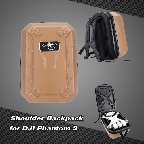 Travelling Shockproof Waterproof Shoulder Backpack Hard Case Bag for DJI Phantom 3 Advanced/Professional Quadcopter