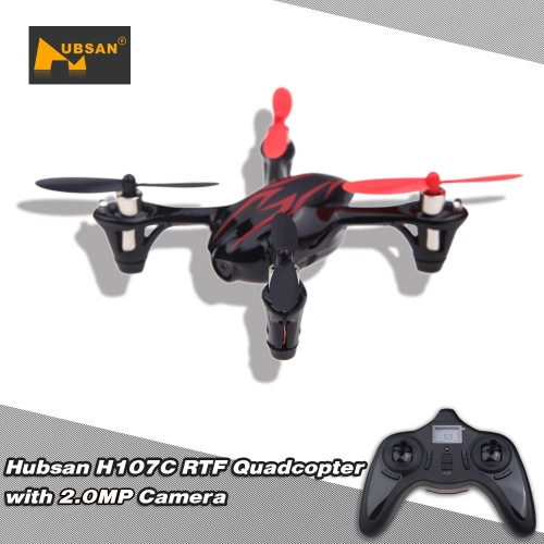 Mode 1 Original Hubsan X4 H107C 2.4G 4CH RC RTF 2MP HD Camera Quadcopter Toys with Transmitter