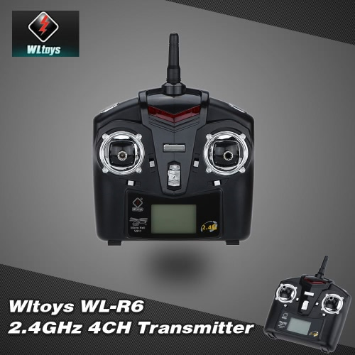 Original RC Part WLtoys WL-R6 2.4GHz 4CH Transmitter for WLtoys V911S V911 V912 V913 V929 V939 V949 V959 RC Helicopter
