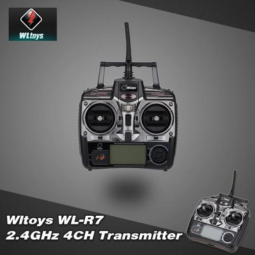 Original RC Part Wltoys WL-R7 2.4GHz 4CH Transmitter for Wltoys V911S V911 V912 V913 V929 V939 V949 V959 RC Helicopter