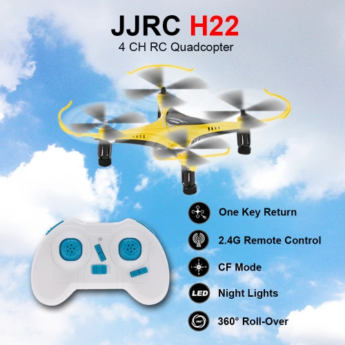 JJRC H22 2.4G 6 Axis Gyro Headless 3D Inverted Flight One Key Return RC Quadcopter