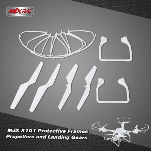 Original MJX X 101 parte de aterrizaje Marcos protectores y hélices para MJX X 101 Quadcopter RC
