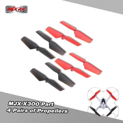 4ペア  オリジナルMJX X300パートプロペラ  MJX X300 X300C RCクアッドコプター用