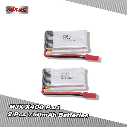 Original MJX X400 Part 3.7V 750mAh Lipo Battery for MJX X400-V2 X300C X800 RC Quadcopter