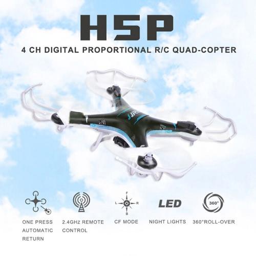 JJRC H5P2.4G6軸ジャイロヘッドレスワンキー戻り3DロールRCクワッドローター 2.0MP HDカメラ付き ブラック