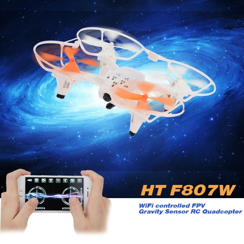 HT F807W 2.4G 6 Axis Gyro WiFi Controlled FPV Gravity Sensor RC Quadcopter with 0.3MP Camera