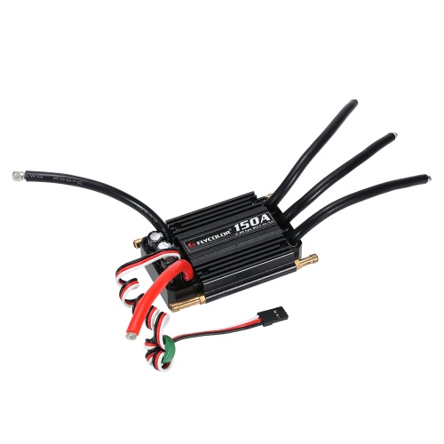 Flycolor Impermeabile 150A Spazzola ESC regolatore elettronico di velocità con 5.5V / 5A BEC per barca RC